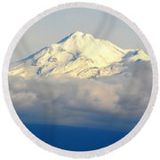 Shasta Near Sunset Round Beach Towel