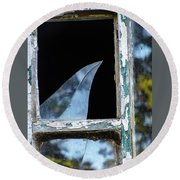 Shattered Reflection Round Beach Towel