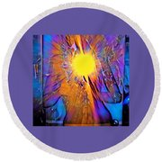Shattering Perceptions   Round Beach Towel
