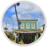 Round Beach Towel featuring the photograph Shave Ice by DJ Florek