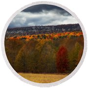 Shawangunk Mountains Hudson Valley Ny Round Beach Towel