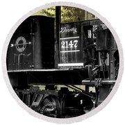 Shay Locomotive 2 Round Beach Towel
