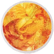 Round Beach Towel featuring the digital art She Dreams 2017 by Kathryn Strick