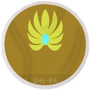 She-ra Princess Of Power My Favorite Tv Shows Series 014 Round Beach Towel