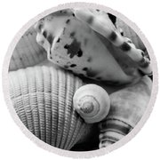 She Sells Seashells Round Beach Towel