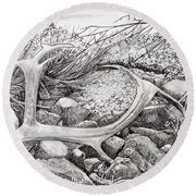 Shed Antler Round Beach Towel