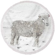 Sheep Round Beach Towel