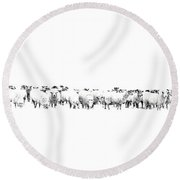 Sheeple  Round Beach Towel