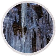 Sheets Of Icicles Round Beach Towel