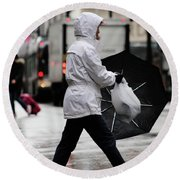 Round Beach Towel featuring the photograph Sheild Of Rain  by Empty Wall