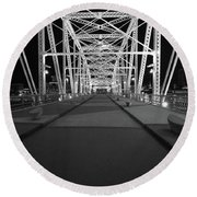 Shelby Bridge Bw Round Beach Towel