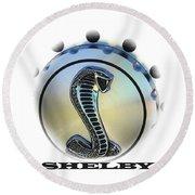 Shelby Cobra Art Round Beach Towel