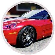Shelby Corvette Round Beach Towel