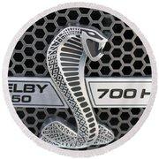 Shelby F150 Truck Emblem Round Beach Towel