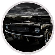 Shelby Gt350h Rent-a-racer Round Beach Towel
