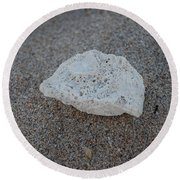 Round Beach Towel featuring the photograph Shell And Sand by Rob Hans