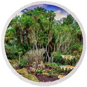 Shell Garden Round Beach Towel by Joseph Hollingsworth