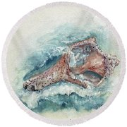 Shell Gift From The Sea Round Beach Towel by Doris Blessington