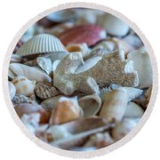 Round Beach Towel featuring the photograph Shell Ocean by Sabine Edrissi