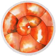 Shell Shock Watercolor Round Beach Towel