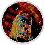 Shell Space Round Beach Towel