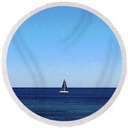 Shelley Park No. 61-1 Round Beach Towel by Sandy Taylor