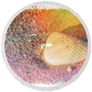 Round Beach Towel featuring the photograph Shelling Out by Marvin Spates