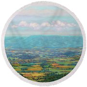 Shenandoah Blue Round Beach Towel