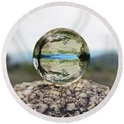 Round Beach Towel featuring the photograph Shenandoah by Sue Collura
