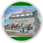 Shenanigans Irish Pub And Grille Round Beach Towel