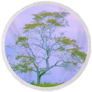 Shepherd Of The Valley Round Beach Towel by Az Jackson