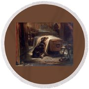 Shepherds Chief Mourner Round Beach Towel