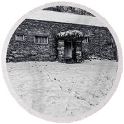 Round Beach Towel featuring the photograph Shepherds Cottage by Keith Elliott