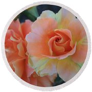 Sherbert Rose Round Beach Towel by Marna Edwards Flavell