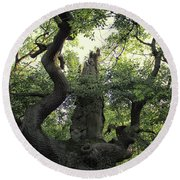 Sherwood Forest Round Beach Towel by Martin Newman