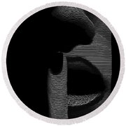 Shhh Round Beach Towel by ISAW Gallery