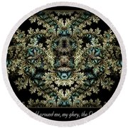 Shield Around Me Round Beach Towel