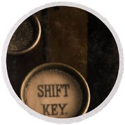 Shift Key Round Beach Towel