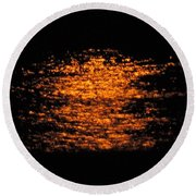 Round Beach Towel featuring the photograph Shimmer by Linda Hollis