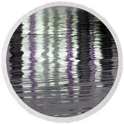 Round Beach Towel featuring the photograph Shimmer by Wendy Wilton