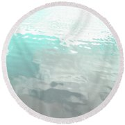 Let The Water Wash Over You. Round Beach Towel