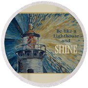 Shine Round Beach Towel