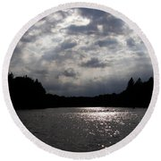 Shine On Round Beach Towel by Angie Rea
