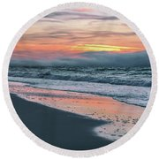 Round Beach Towel featuring the photograph Shine On Me Beach Sunrise  by John McGraw