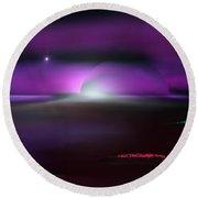 Shining Star Round Beach Towel by Yul Olaivar