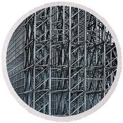 Shiny Steel Construction Round Beach Towel