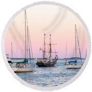 Ship Out Of Time Round Beach Towel
