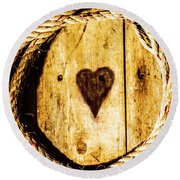 Ship Shape Heart Round Beach Towel