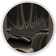 Ship Wreck Abstract Round Beach Towel