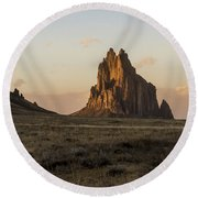 Shiprock 2 - North West New Mexico Round Beach Towel